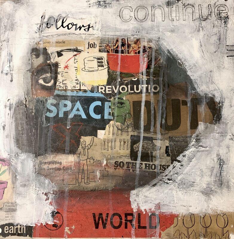 Casebeer, 'Continue', 2020, Mixed Media, Collage, acrylic, McVarish Gallery