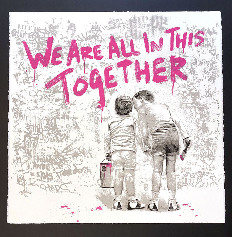 Mr. Brainwash, 'We Are All In This Together (Pink)', 2020, Print, Silkscreen, Georgetown Frame Shoppe