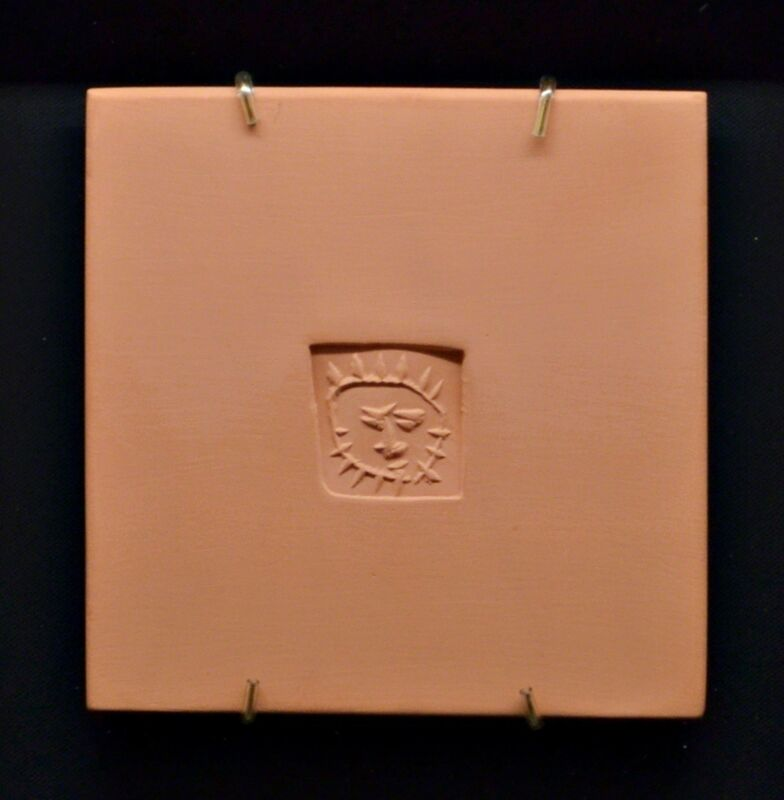 Pablo Picasso, 'Little Square With Sun (AR 631)', 1971, Sculpture, Red Earthenware Tile, Off The Wall Gallery