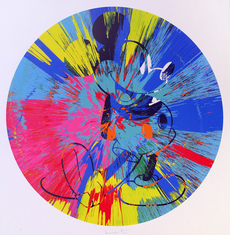 Damien Hirst, 'Beautiful Mickey (Spin)', 2015, Print, Silkscreen on paper, Gallery Red