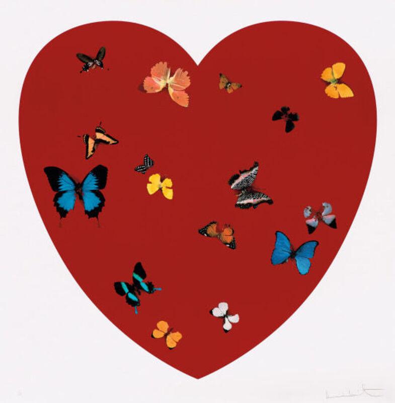 Damien Hirst, 'Big Love', 2011, Print, Screenprint in colors on heavy wove paper, David Benrimon Fine Art