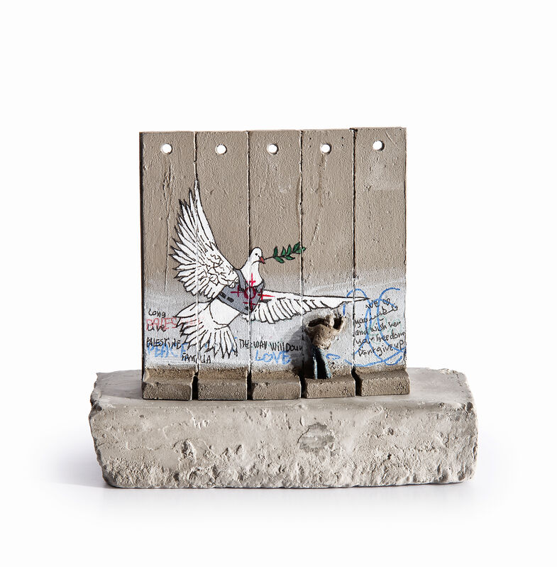 Banksy, 'Walled Off Hotel - Five Part Souvenir Wall Section', Sculpture, Hand painted resin sculpture with West Bank Separation Wall base, Tate Ward Auctions