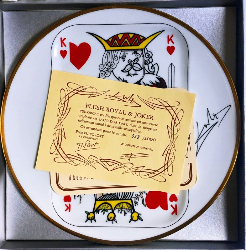 Salvador Dalí, 'King of Hearts ', 1967, Design/Decorative Art, Limited Edition Limoges Porcelain Plate. Signature Fired into Plate., Alpha 137 Gallery