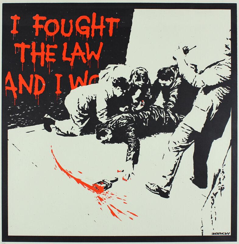 Banksy, 'I Fought The Law', ca. 2004, Print, Screenprint, Gormleys Fine Art