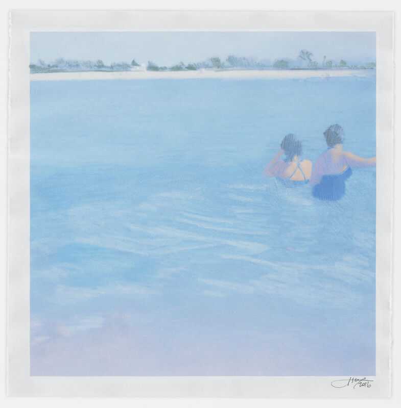 Isca Greenfield-Sanders, 'Two Bathers', 2016, Mixed Media, Mixed media with color pencil, Human Rights Campaign Benefit Auction