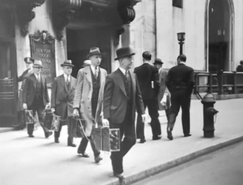 Carl Mydans, 'Chain Gang - New York Stock Exchange', 1937