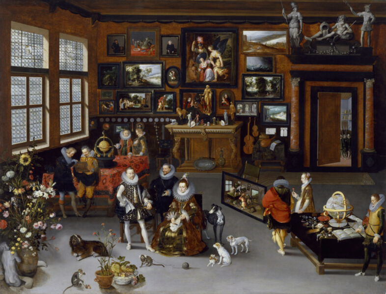 Hieronymus Francken II, 'The Archdukes Albert and Isabella Visiting a Collector's Cabinet', ca. 1621-1623