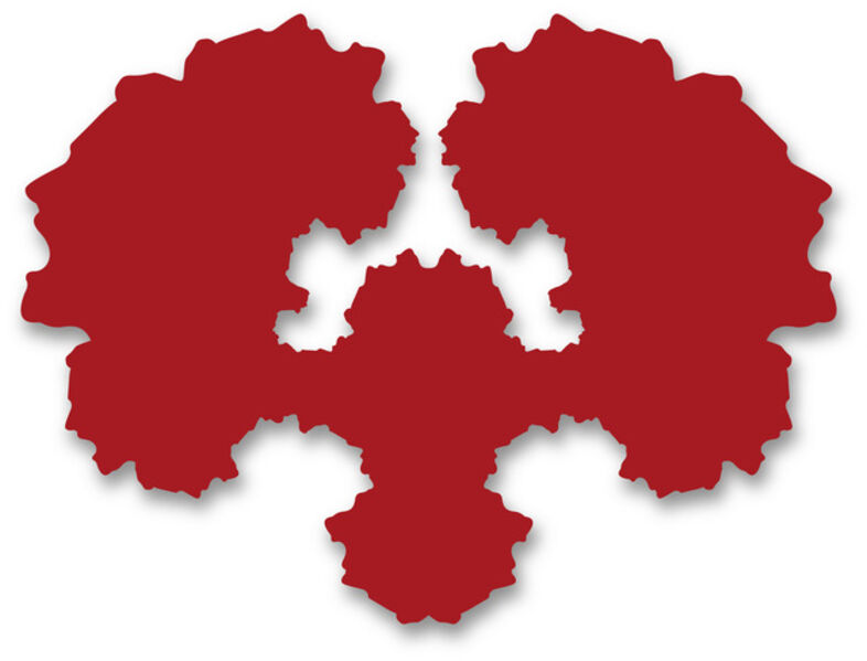 Paul Hosking, 'Rorschach Portrait (red)', 2012
