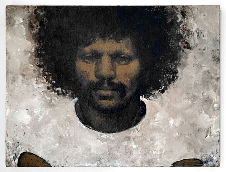 Martin Wong, 'Portrait of Mickey Pinero (AFRO)', c. 1988