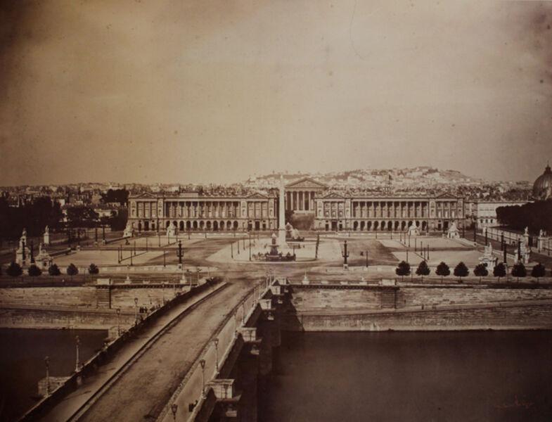 Gustave Le Gray, 'Place de la Concorde, Paris', 1859