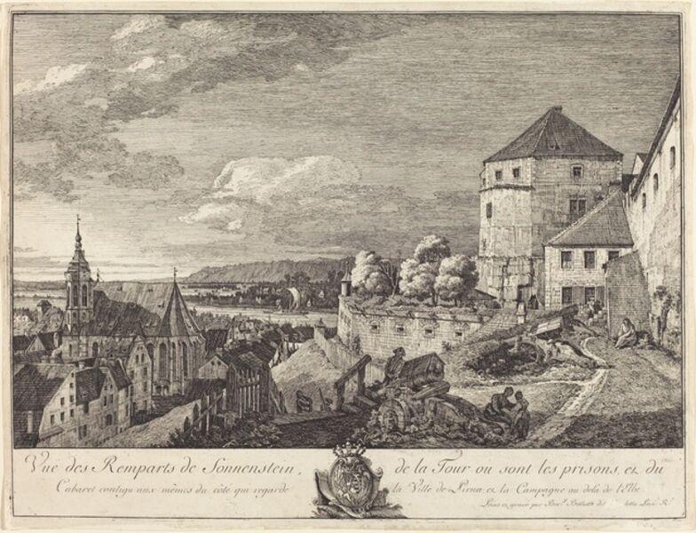 Bernardo Bellotto, 'Vue des Remparts de Sonnenstein (View of the Ramparts of Sonnenstein)'