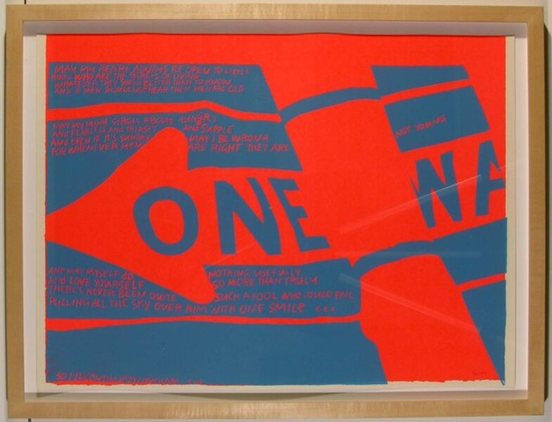 Corita Kent, 'one way', 1967