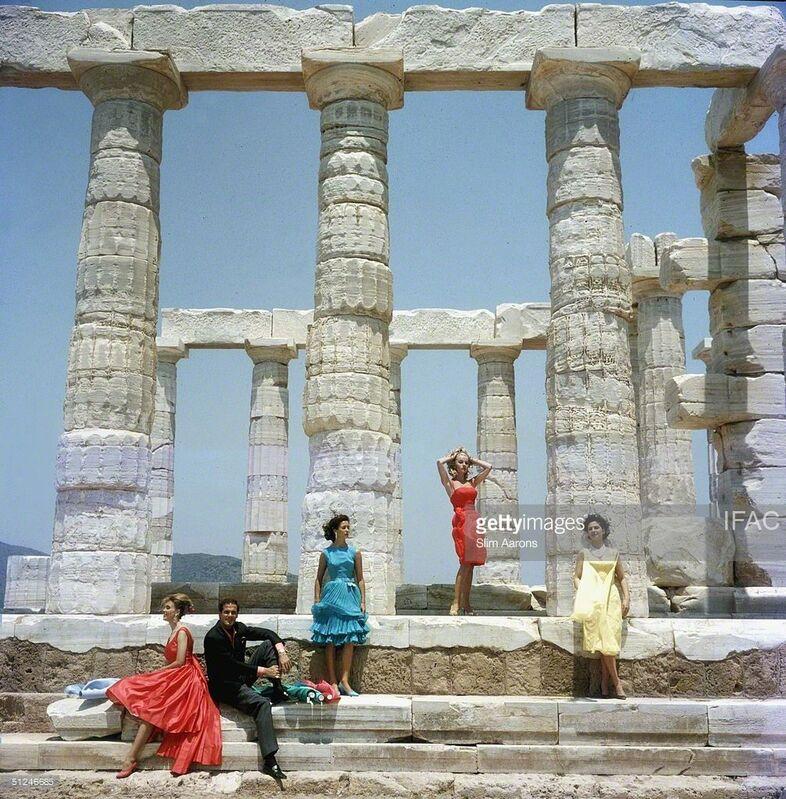 Slim Aarons, 'Dimitris Kritsas at Temple to Poseidon at Sounion', 1967, Photography, Lambda C-print, IFAC Arts