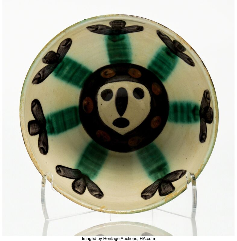 Pablo Picasso, 'Visage', 1955, Design/Decorative Art, White ceramic bowl with coloured engobe and glaze, Heritage Auctions
