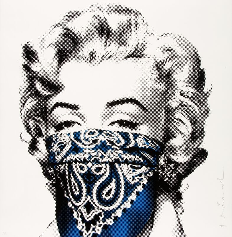 Mr. Brainwash, 'Stay Safe (Blue)', 2020, Print, Silkscreen in colors on wove paper, Heritage Auctions