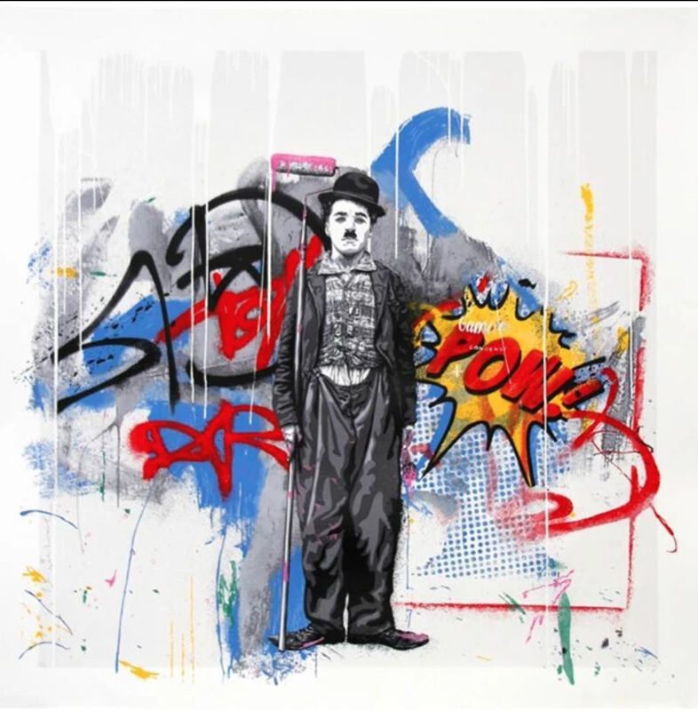 Mr. Brainwash, 'Gold Rush ', 2018, Print, 15 Color Screen Print hand finished with stencil spray painted on hand torn archival art paper, End to End Gallery