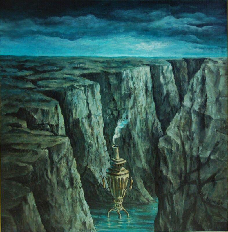 Yosl Bergner, 'The Samovar', 1968, Painting, Oil on canvas, Dan Gallery