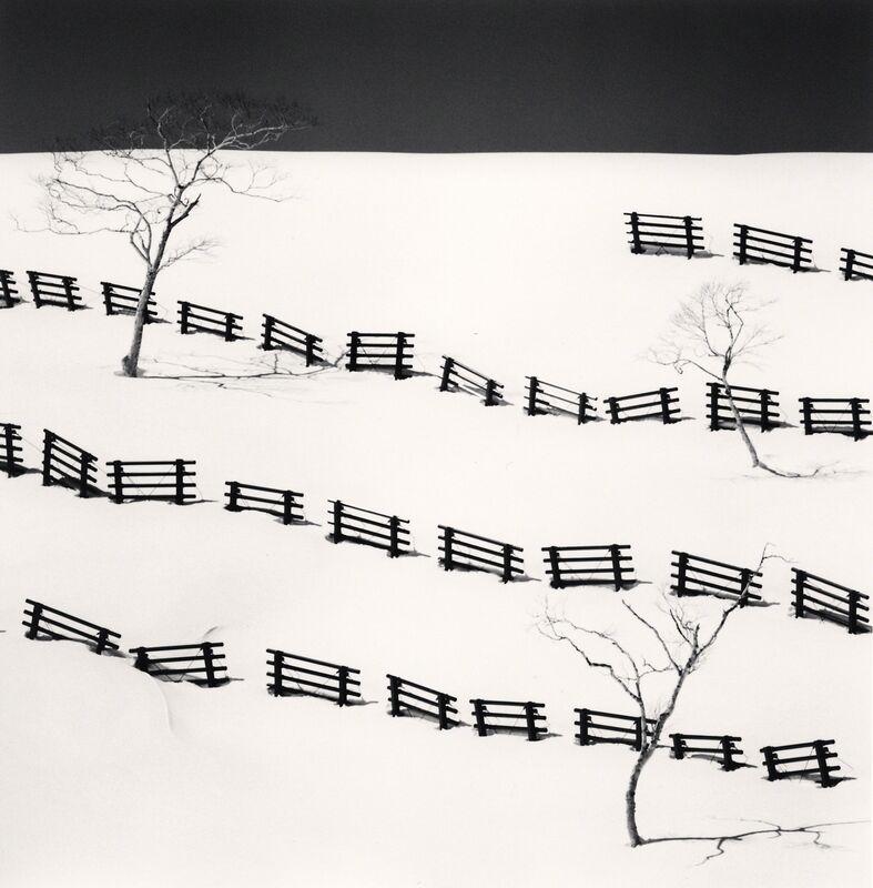 Michael Kenna, 'Thirty One Snow Fences - Bihoro, Hokkaido, Japan.', 2016, Photography, Sepia toned silver gelatin print, Galeria de Babel
