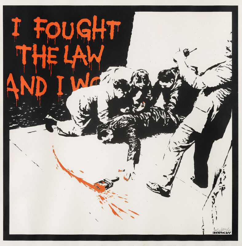 Banksy, 'I Fought The Law', 2004, Print, Screenprint in colours on wove paper, Tate Ward Auctions