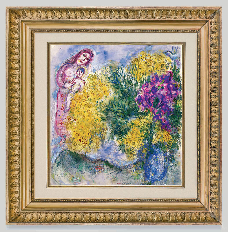 Marc Chagall, 'Mimosas et Iris ', ca. 1964-69, Painting, Gouache , watercolor and pastel on paper, Opera Gallery