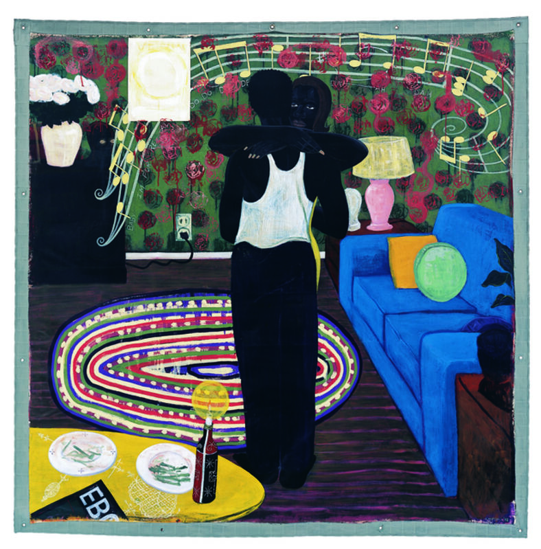 Kerry James Marshall, 'Slow Dance', 1992-1993, Painting, Mixed media and acrylic on unstretched canvas, MCA Chicago