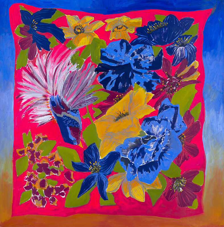 Anna Valdez, 'Tropical Scarf', 2017, Painting, Oil on paper, Hashimoto Contemporary