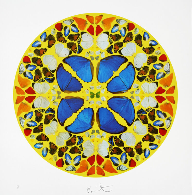 Damien Hirst, 'Psalm: Domine Dominus Noster', 2010, Print, Silkscreen with diamond dust. Edition of 50. Framed., The Drang Gallery
