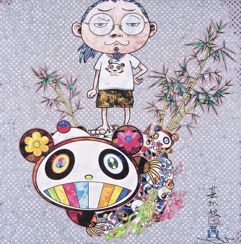 Takashi Murakami, 'I Met a Panda Family', 2013, Print, Offset print with silver, Pinto Gallery