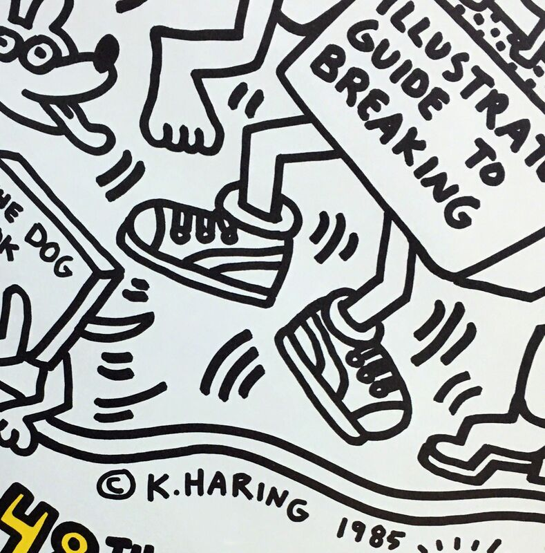 Keith Haring, 'Keith Haring New York Is Book Country ', 1985, Posters, Offset lithograph, Lot 180