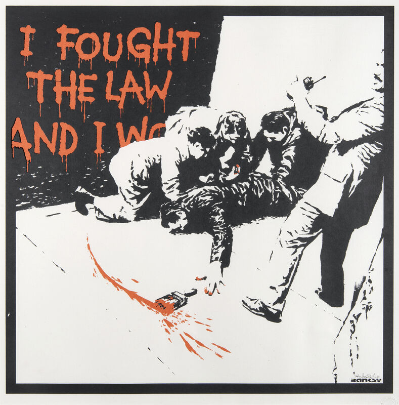 Banksy, 'I Fought The Law', 2004, Print, Screen print in colours on wove paper, Tate Ward Auctions