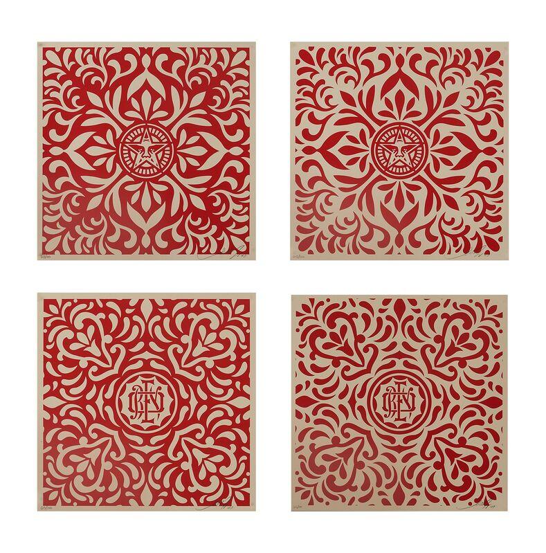 Shepard Fairey, 'Japanese Fabric Pattern', 2009, Print, Four screenprints in colors, Rago/Wright