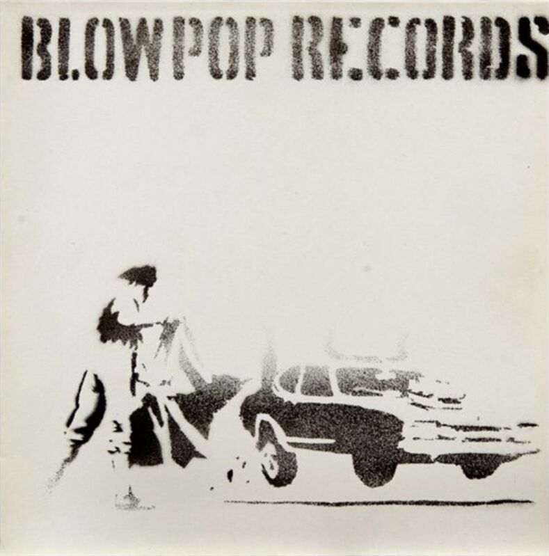 Banksy, 'Blow Pop Records', 1999, Ephemera or Merchandise, Spray-paint and stencil on record sleeve, MoonStar Fine Arts Advisors