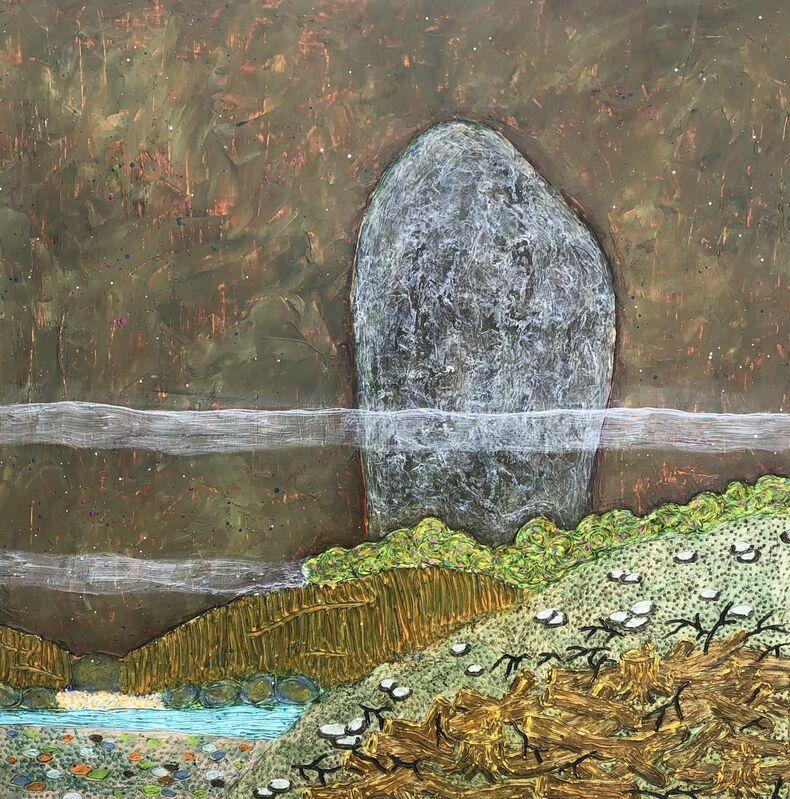 Hung Viet Nguyen, 'Sacred Landscape V #1', 2020, Painting, Oil on wood panel, LAUNCH LA