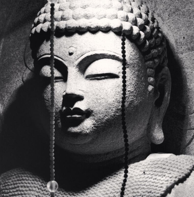 Michael Kenna, 'Jizo Bosatsu, Ishitej, Ehime, Shikoku, Japan', 2003 , Photography, Sepia toned silver gelatin print, Ira Stehmann Fine Art Photography