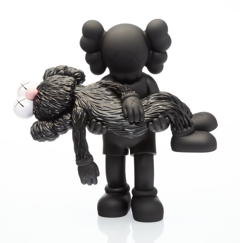 KAWS, 'Gone (Black)', 2019, Sculpture, Painted cast vinyl, Heritage Auctions