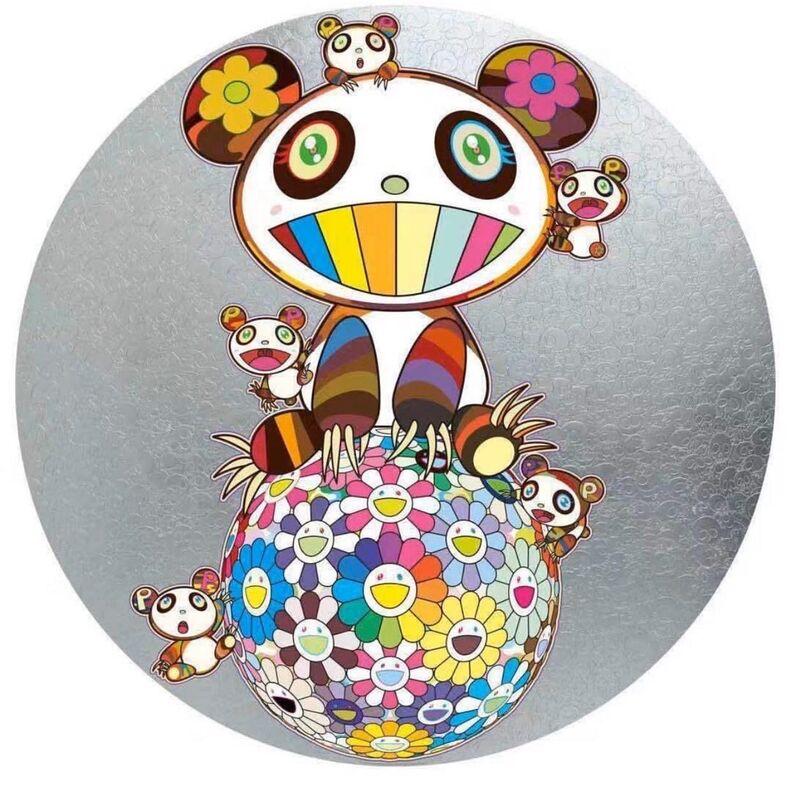 Takashi Murakami, 'Panda with Panda Cubs', 2020, Print, Offset print with cold stamp, Lougher Contemporary