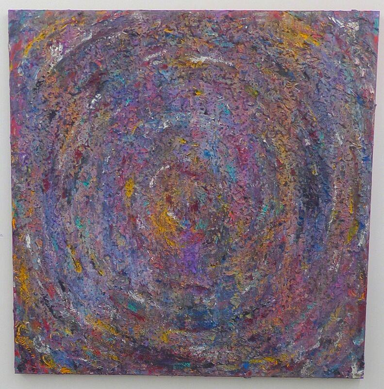 Mary J. Saran, 'Dark Star', Painting, Acrylic paint, gloss gel medium with powder pigment on canvas, Amos Eno Gallery