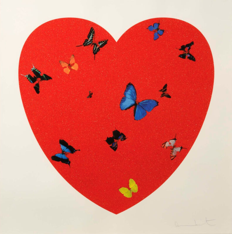 Damien Hirst, 'Damien Hirst, All you need is Love, Love, Love', 2009, Print, Silkscreen with Diamond Dust, Oliver Cole Gallery