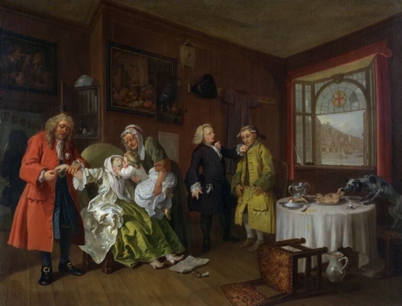 William Hogarth, 'The Lady's Death', 1743
