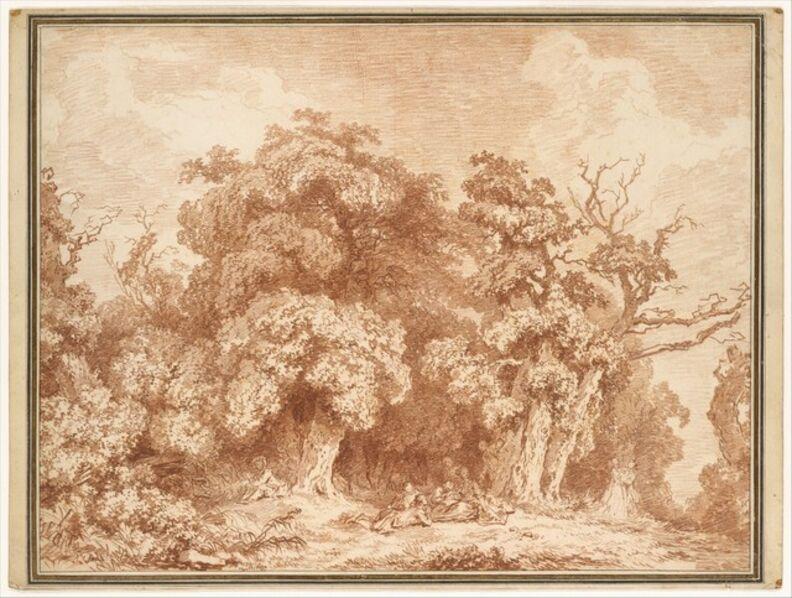 Jean-Honoré Fragonard, 'A Gathering at Wood's Edge', ca. 1770–1773