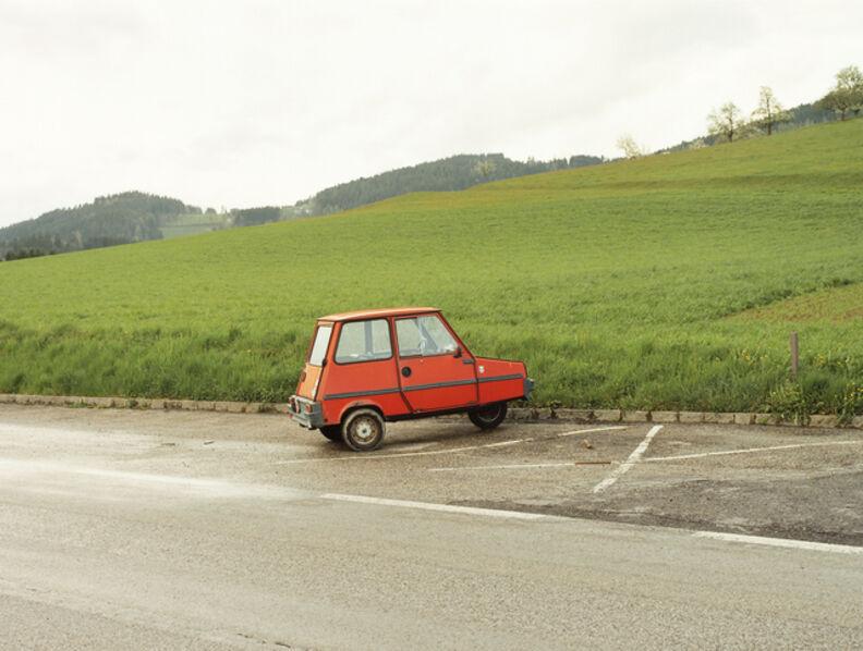 Bernhard Fuchs, 'Rotes kleines Auto, Helfenberg-Haslach, 2001', 2001