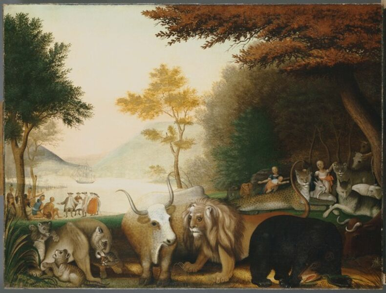Edward Hicks, 'The Peaceable Kingdom', between 1845 and 1846