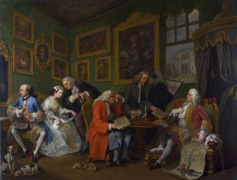 William Hogarth, 'The Settlement', 1742-1744