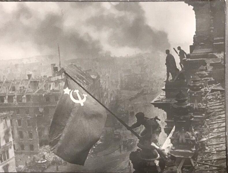 Yevgeny Khaldei, 'Raising the Soviet Banner over the Reichstag, Berlin, May 1945', 1945