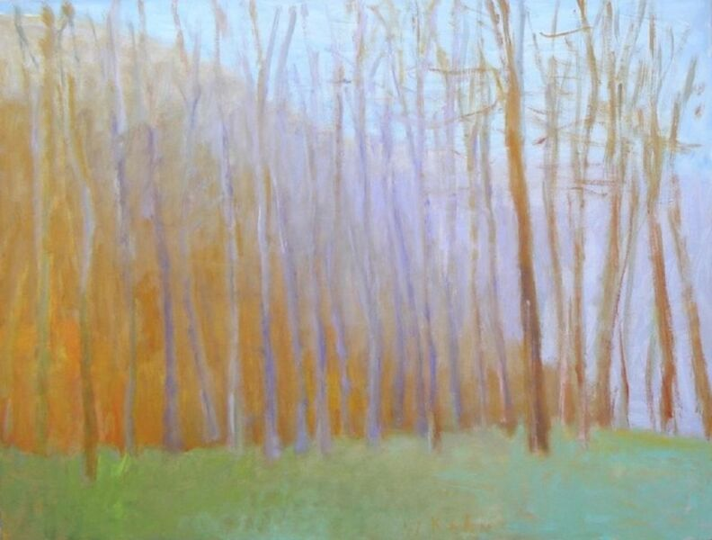 Wolf Kahn, 'Tree Row in Early Spring', 2003