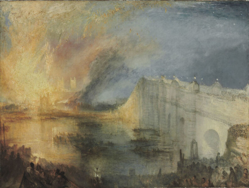 J. M. W. Turner, 'The Burning of the Houses of Lords and Commons, October 16, 1834', 1834-1835