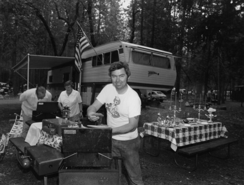 Bill Owens, 'Every summer we go all out on our camp in Yosemite. I do the barbequing'