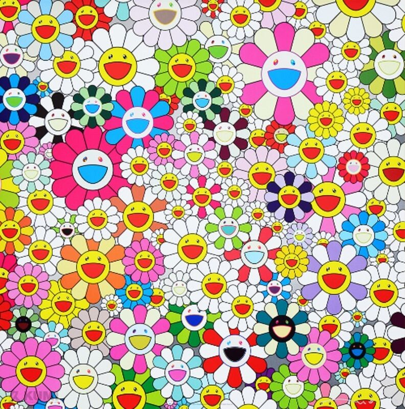 Takashi Murakami, 'Maiden In The Yellow Straw Hat', 2010, Print, Offset Lithograph in Colours, Lougher Contemporary