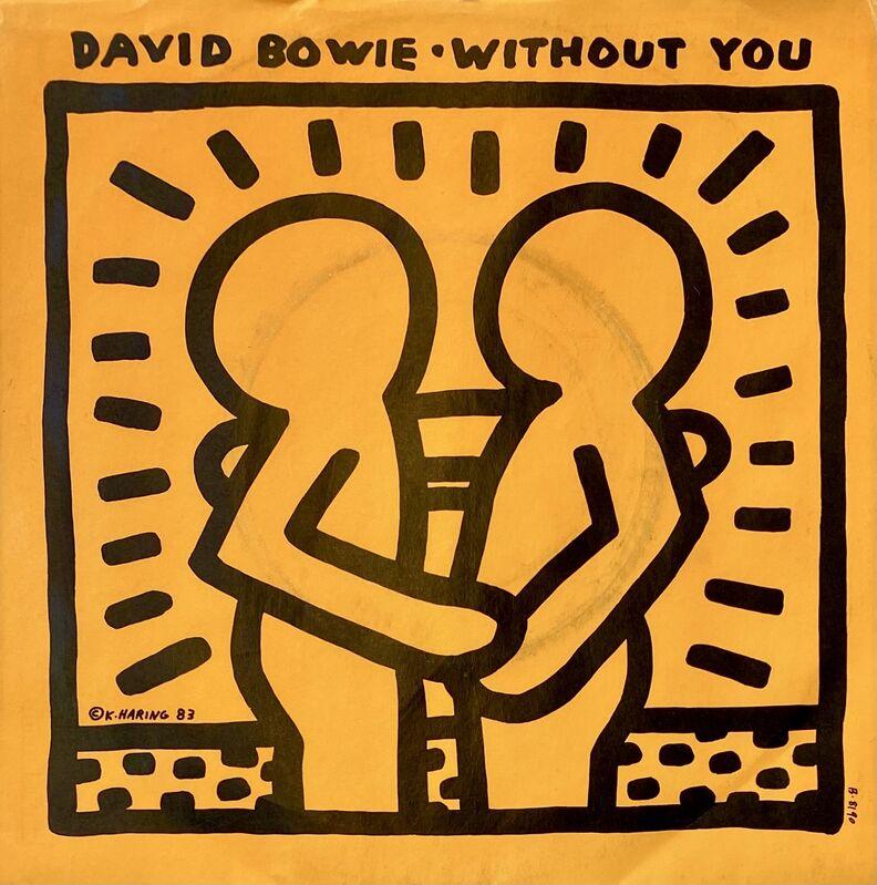 Keith Haring, 'Rare Original Keith Haring Vinyl Record Art (David Bowie)', 1983, Design/Decorative Art, Off-Set Lithograph, Lot 180
