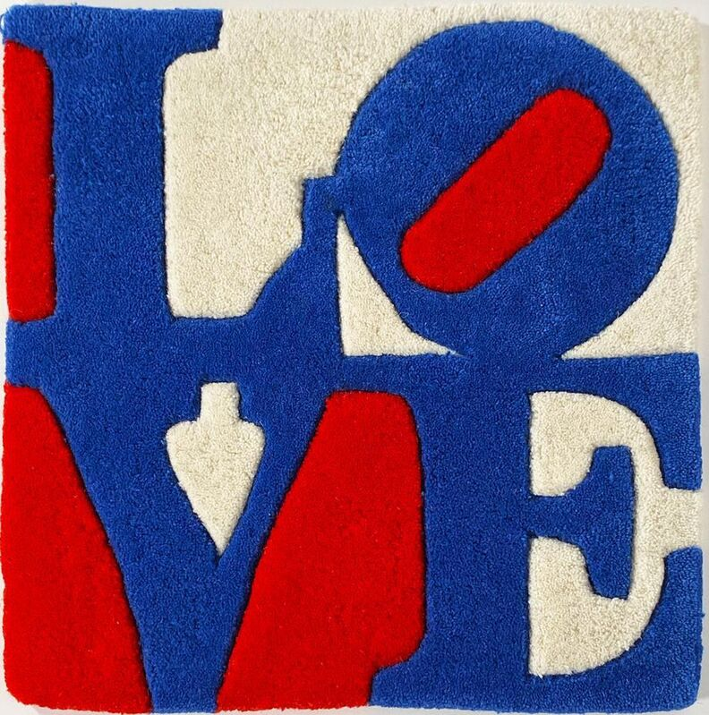Robert Indiana, 'LOVE rug', 2008, Textile Arts, Hand-tufted, carved wool rug-tapestry based on his famous original work, EHC Fine Art
